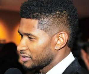 USHER CELEBRITY HAIRCUT